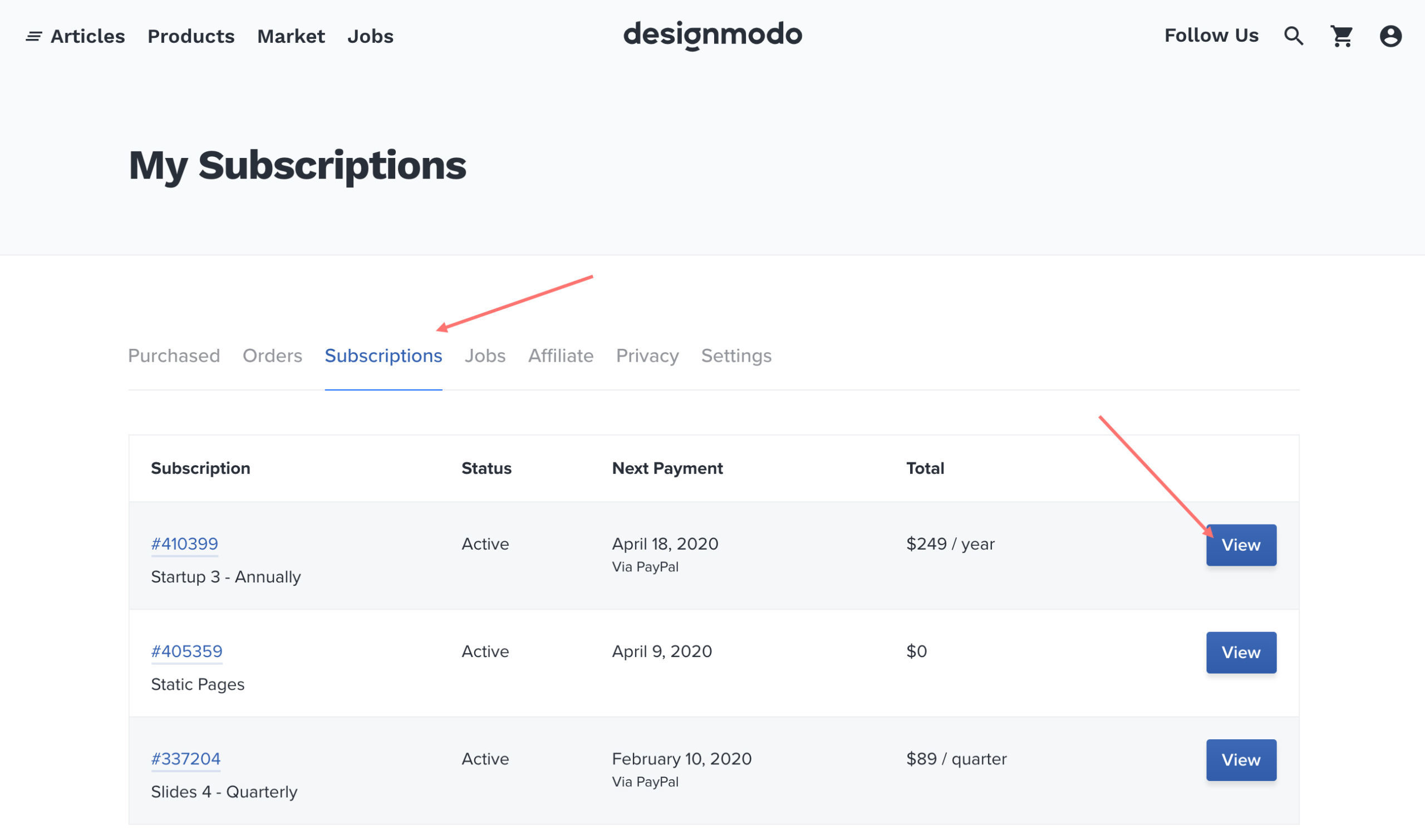 Cancel Subscription Designmodo