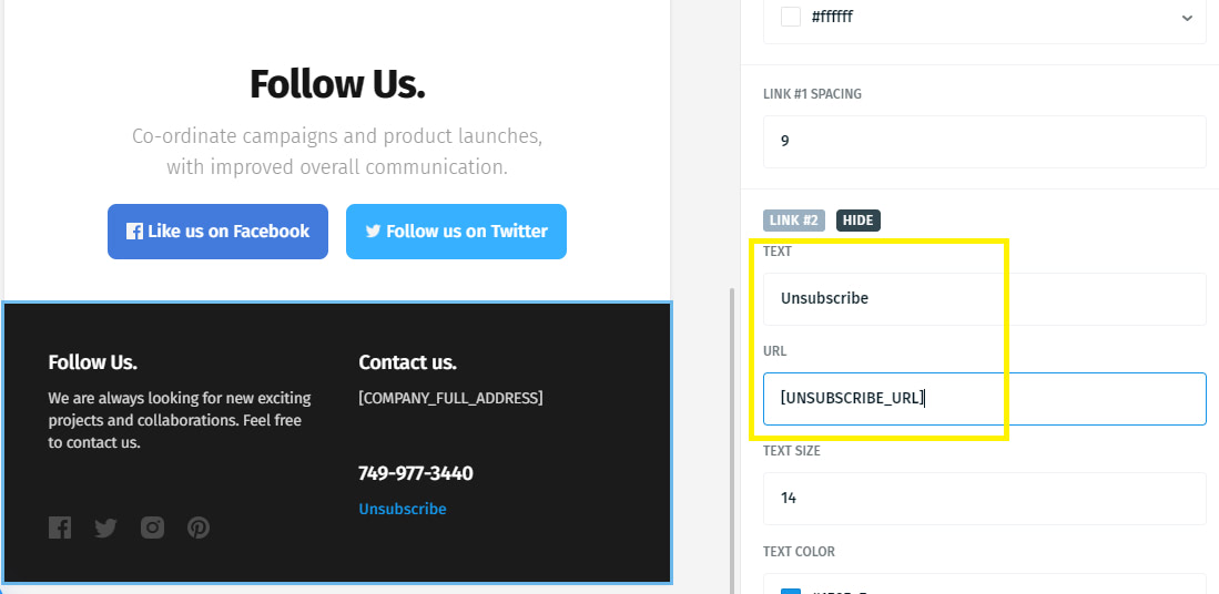 Unsubscribe Mailwizz