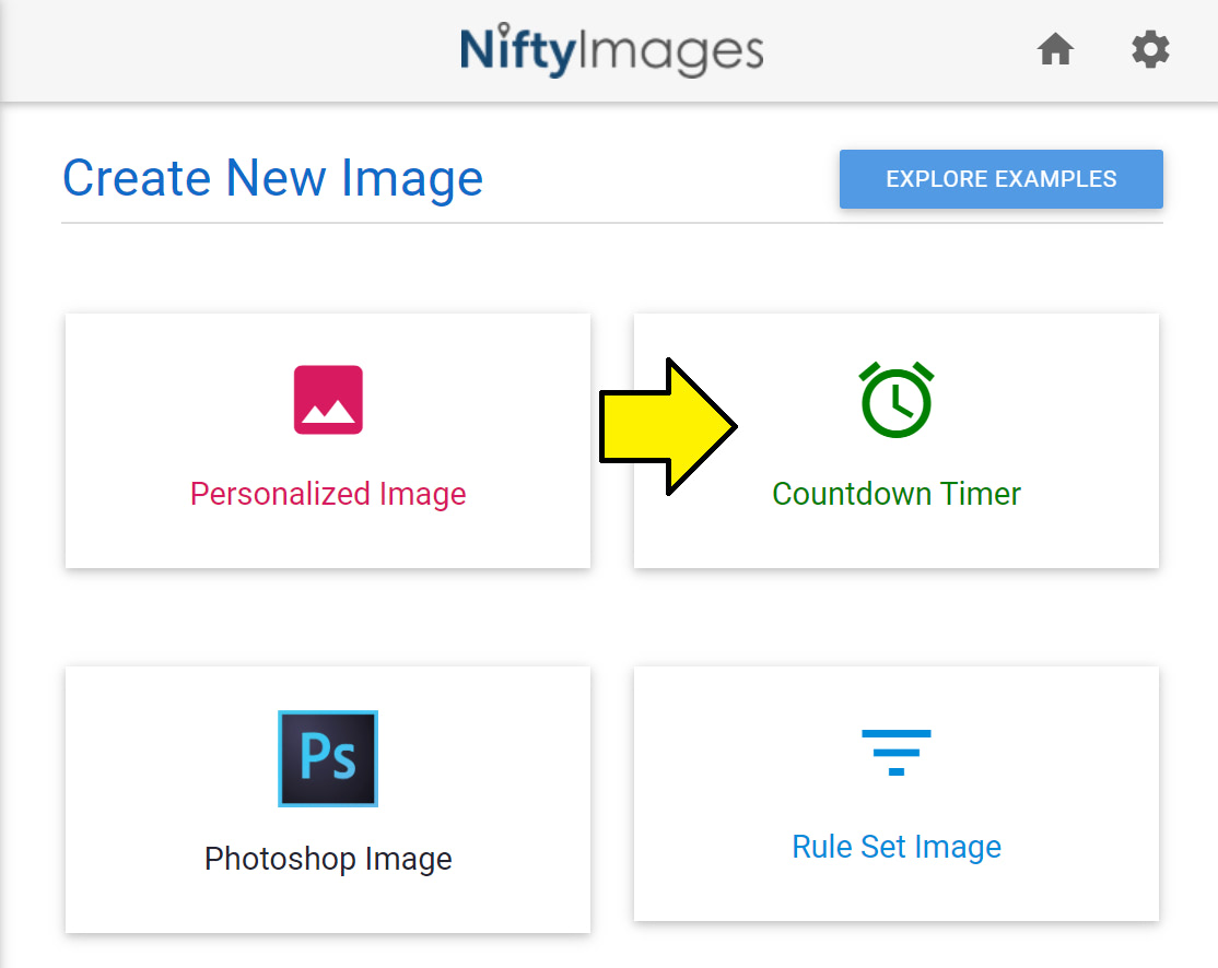 Create a countdown timer in NiftyImages