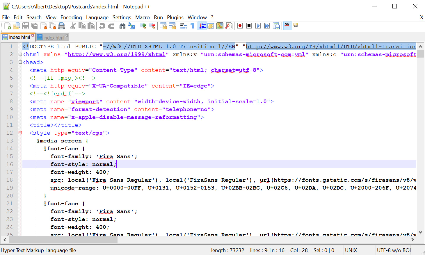Edit the HTML code to change the Preheader Text