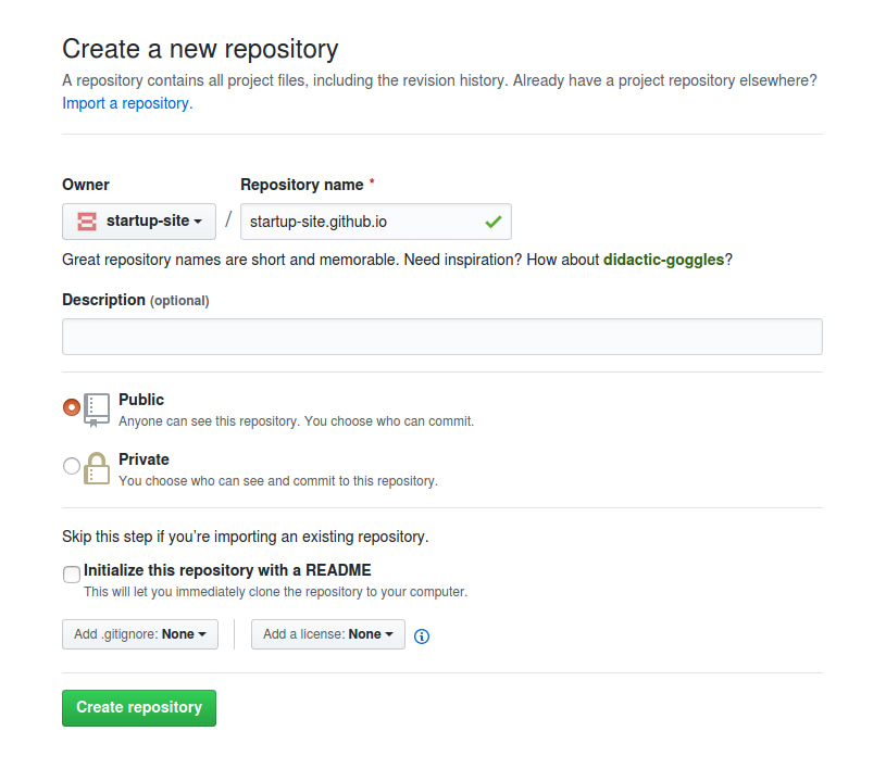 Creating a GitHub Pages Site