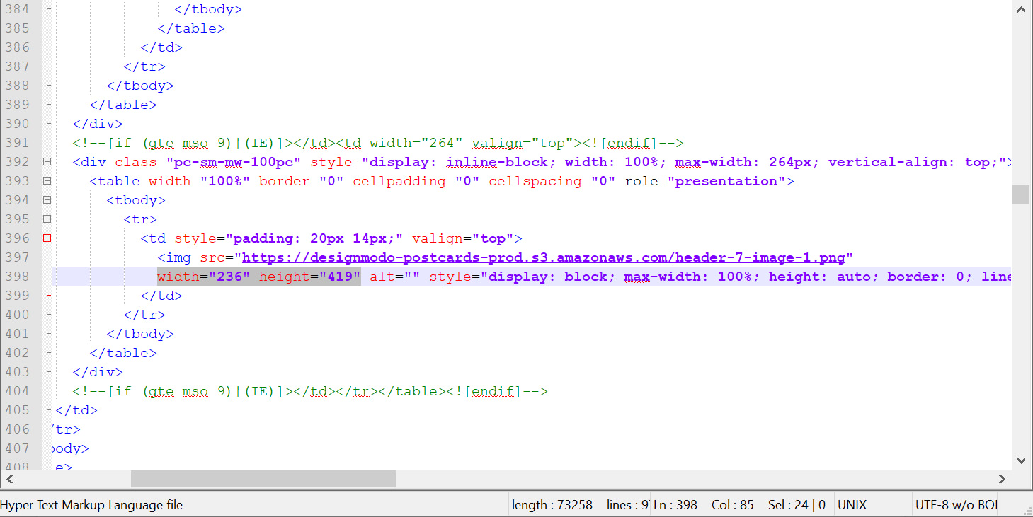 Your HTML Code
