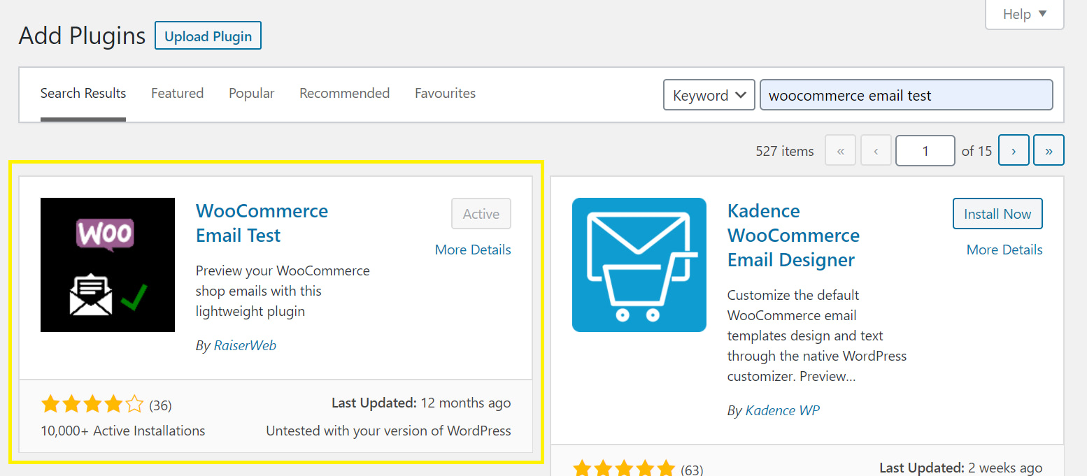 Download the WooCommerce Email Test plugin