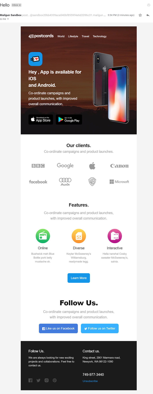 Mailgun API