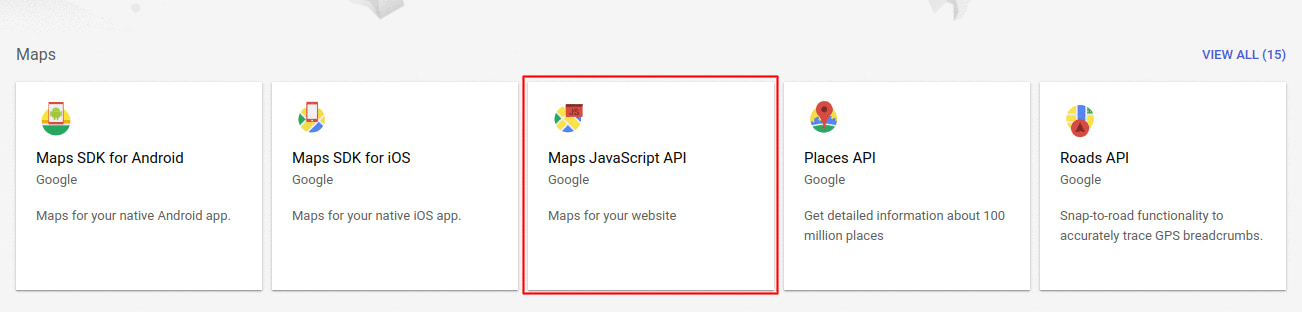 Locate and click on the API