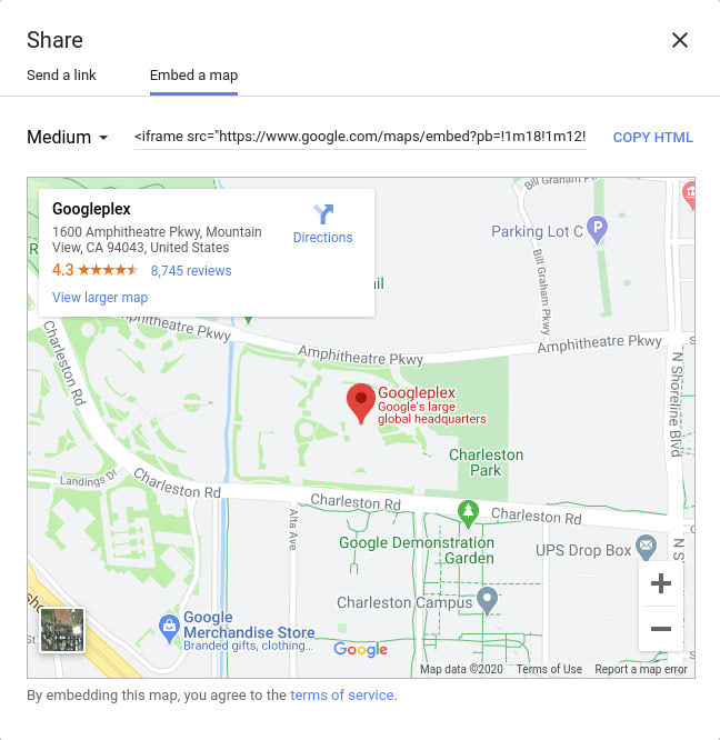Embed a Google Map
