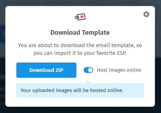 Host images online