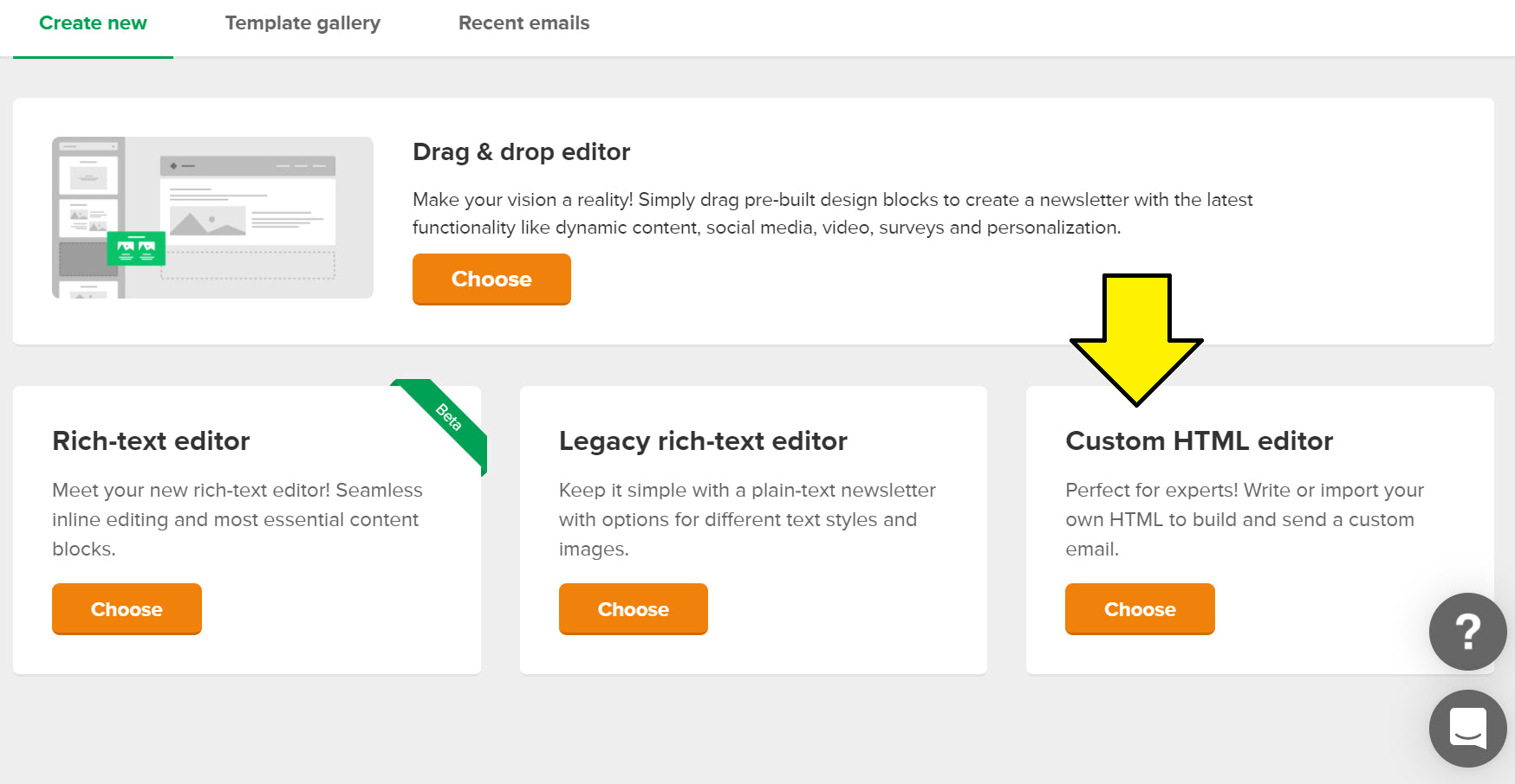 Custom HTML editor