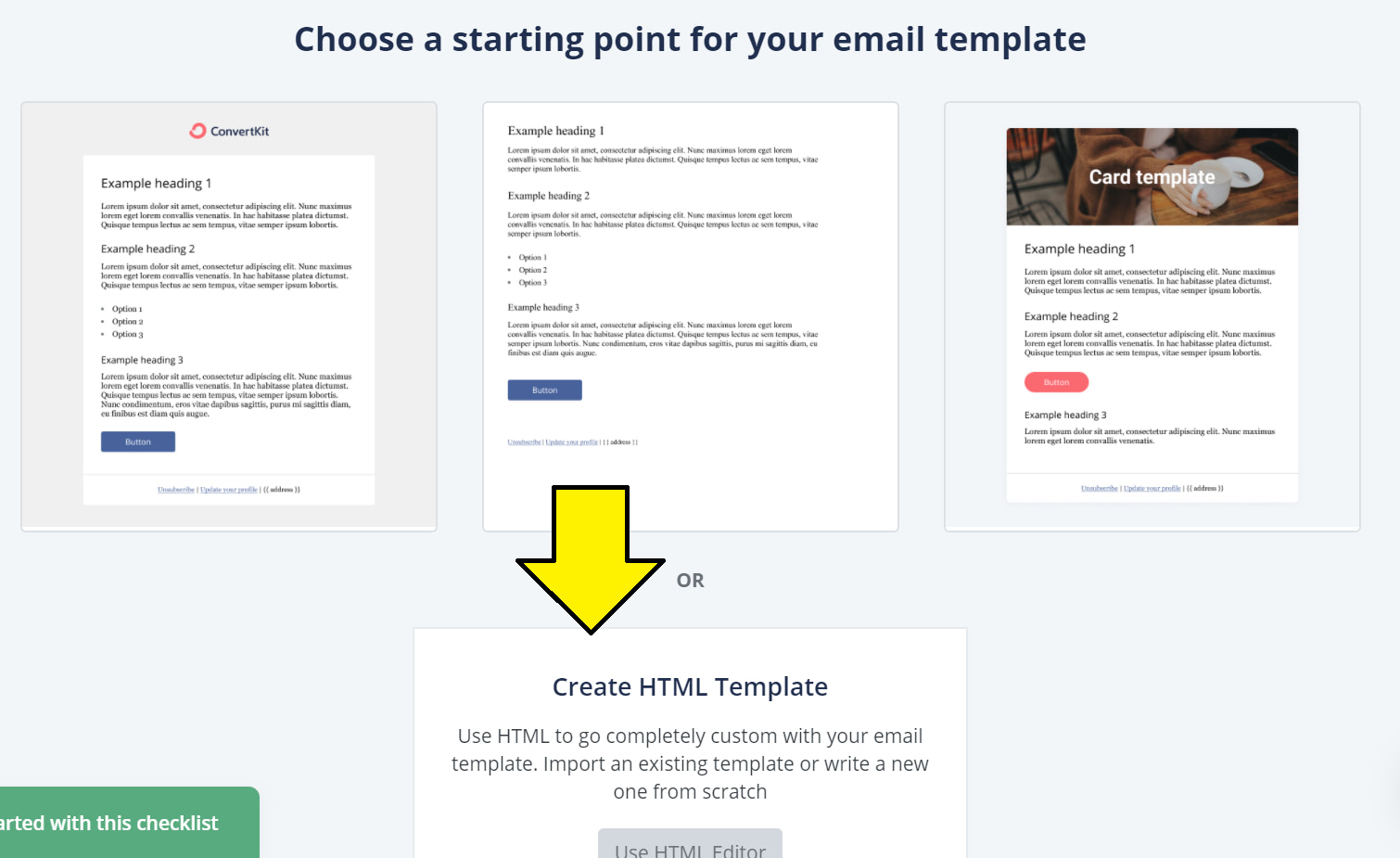 Create HTML Template