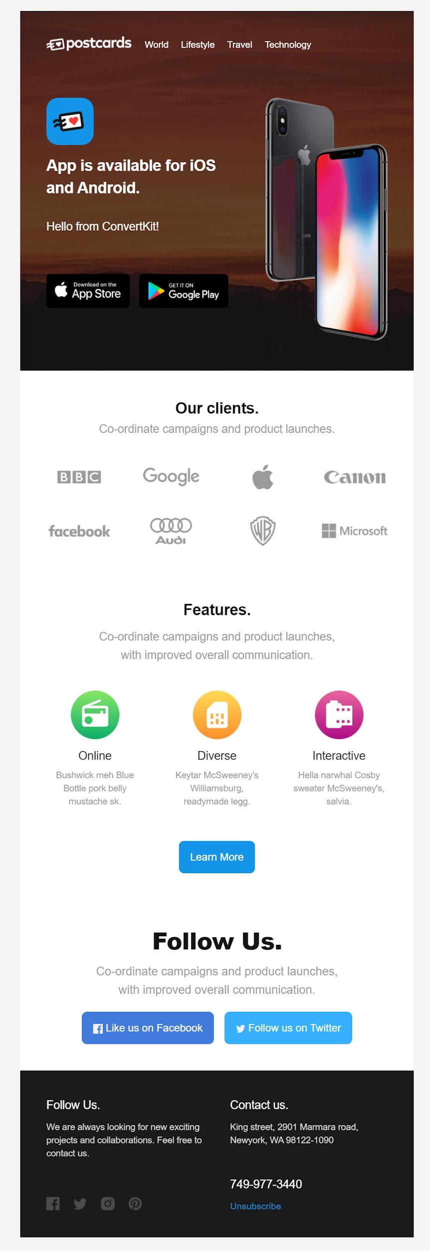 Test email convertkit