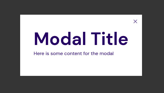 HTML content modal