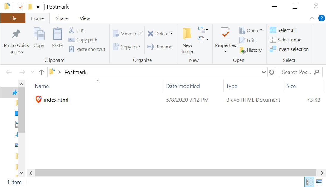 Index.html file