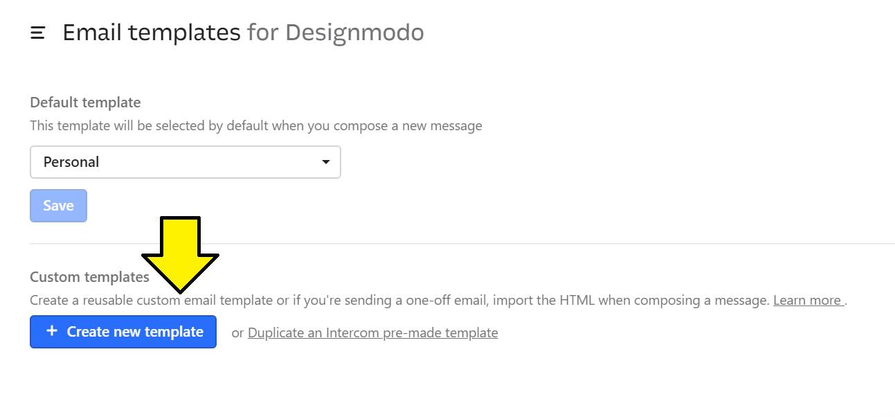 Create new template