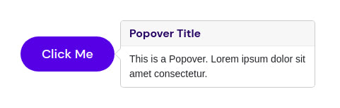 Improved popover