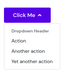 Dropdown header