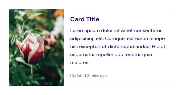 Horizontal card