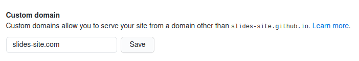 Custom apex domain