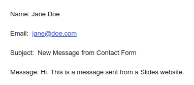 Email message